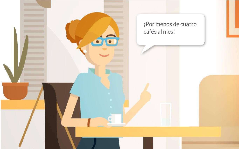 Devoluiva por un café al mes