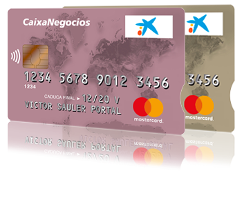 Tarjeta de empresa de CaixaBank con DevoluIVA